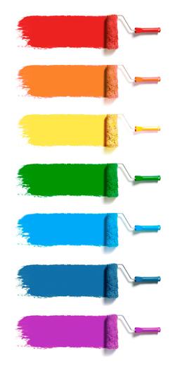 Diferentes tonos de color para las habitaciones de los niños