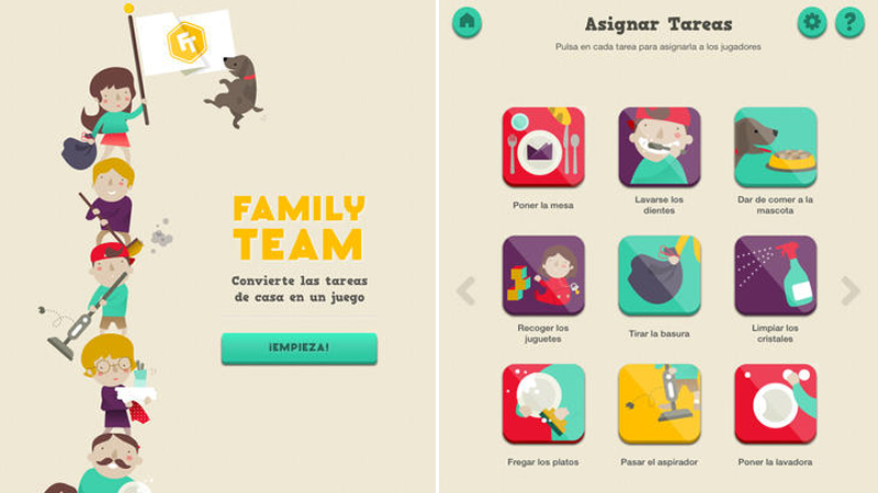 Enseña las tareas domésticas a los niños con la app Family Team para iPad