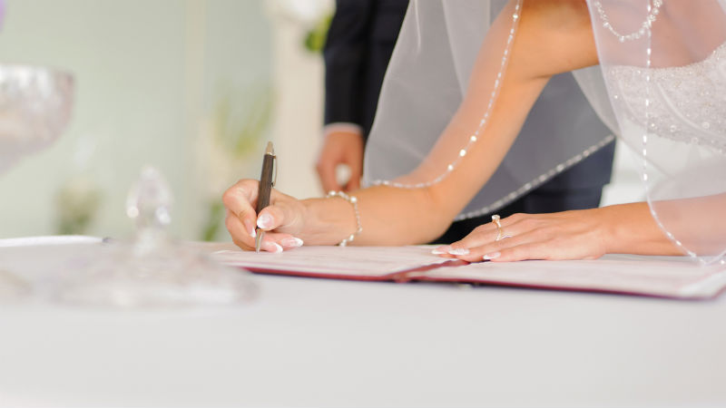 Trámites para una boda civil o religiosa
