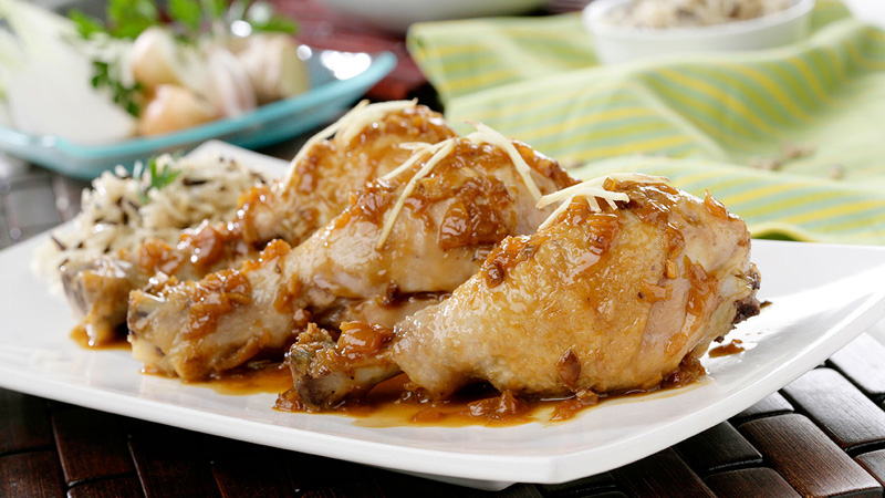 Pollo con soja y jengibre