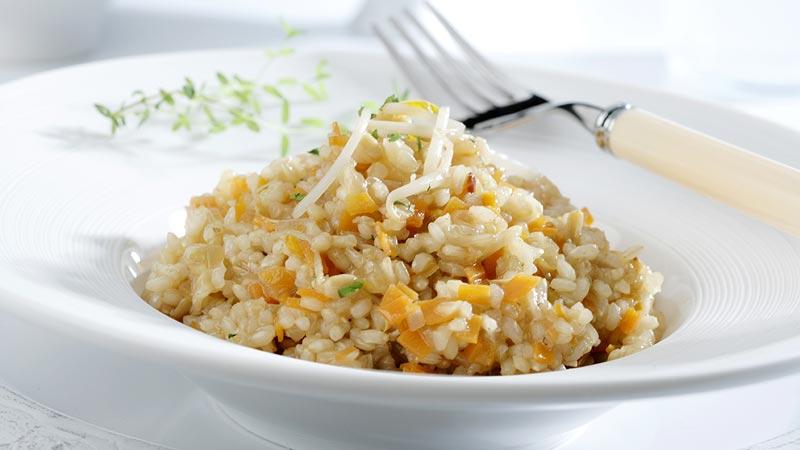 Arroz con sésamo y brotes de soja