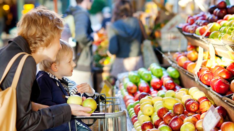 Consejos para ir al supermercado con los niños