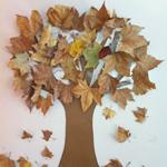 Dibujo de árbol con hojas secas