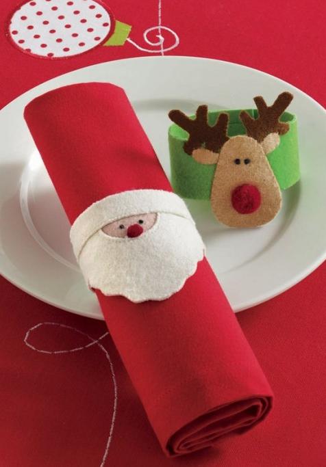 Ideas para hacer servilleteros de navidad flota - Ideas para hacer adornos de navidad ...