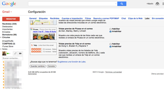guardar-cambios-google-labs