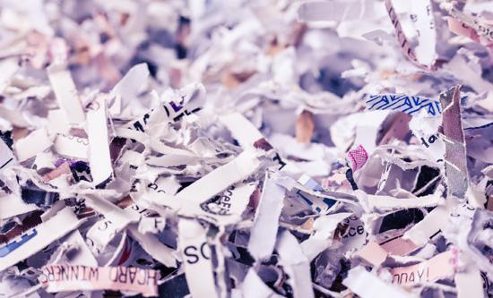 Confeti con papel de regalo