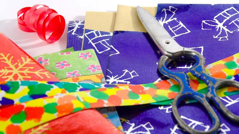10 ideas originales para usar el papel de regalo