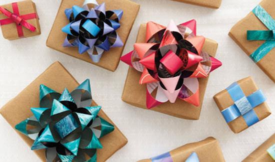 Lazos de papel de regalo