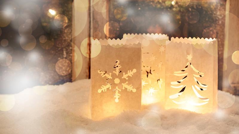 Ideas de iluminación de Navidad a base de manualidades