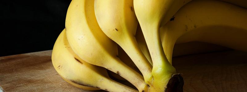 Los plátanos no se deben guardar en la nevera