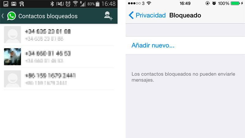 Cómo bloquear un contacto de WhatsApp