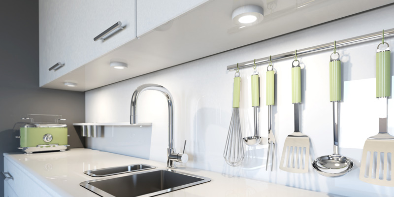 Iluminación en una cocina pequeña