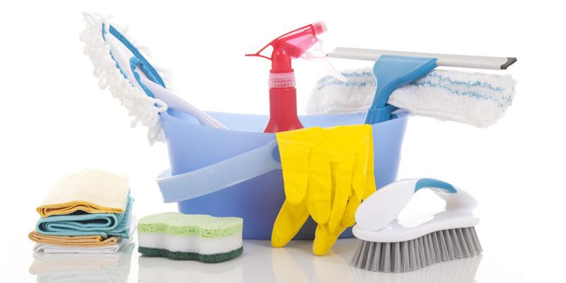 El material de limpieza, siempre listo