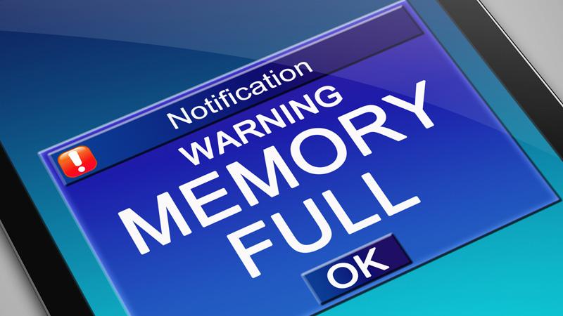tarjeta de memoria llena