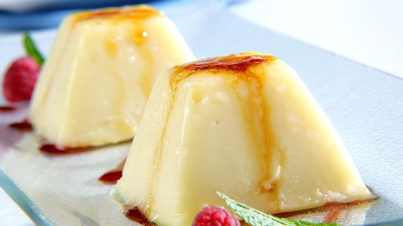Flan de queso con caramelo