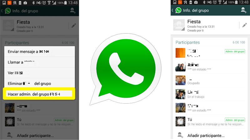 Cómo cambiar el administrador de grupos en WhatsApp en Android
