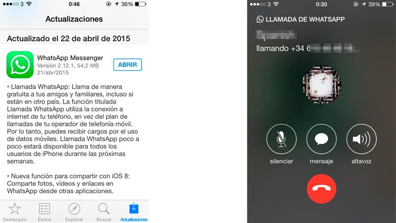 Cómo usar las llamadas de WhatsApp en iPhone