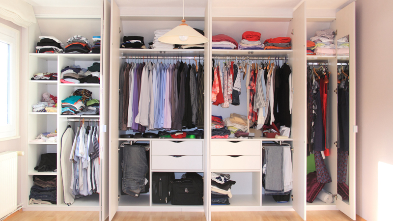 como hacer un armario para ropa casero