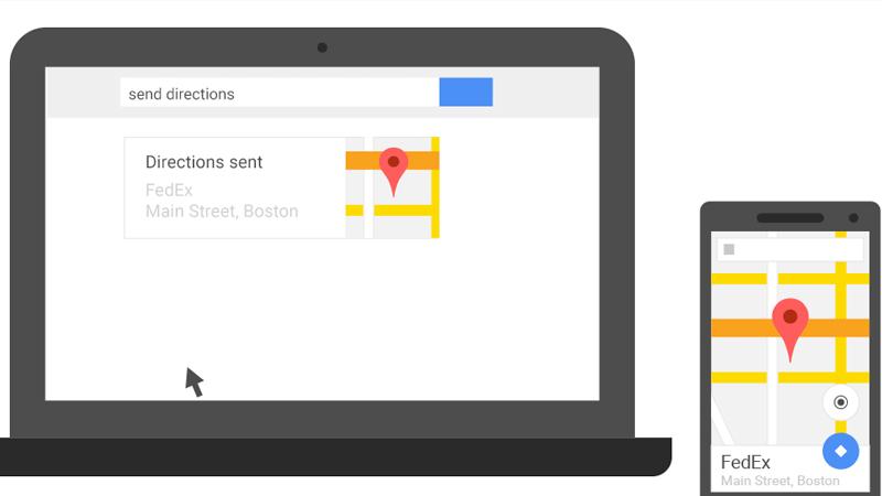Envía direcciones desde el navegador de Google de tu ordenador a tu smartphone