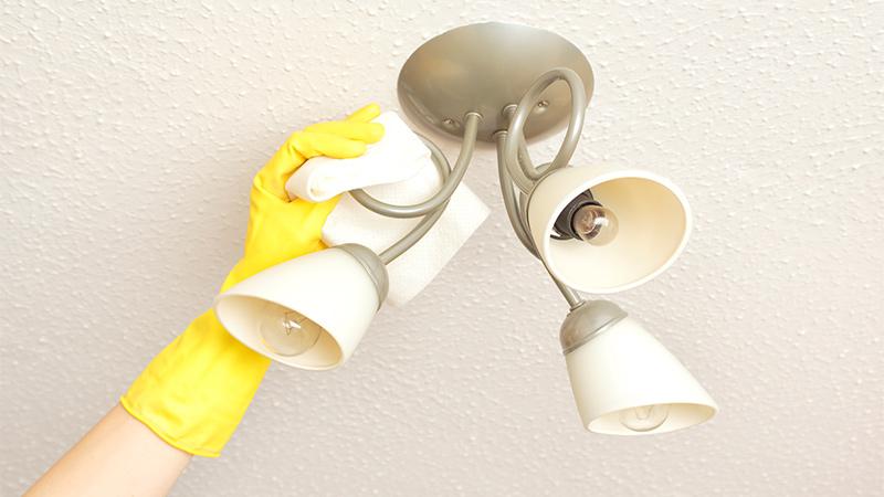 limpiar lamparas