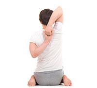 Postura cara de vaca yoga