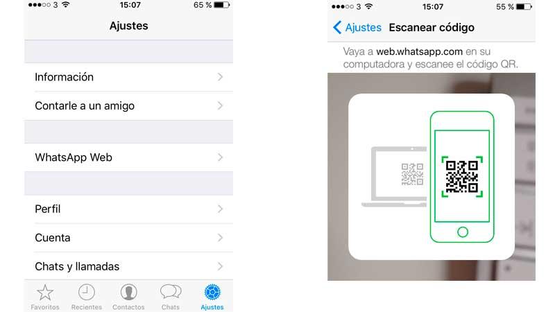 Cómo utilizar WhatsApp Web en el iPhone