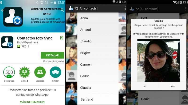 Cómo utilizar la imagen de WhatsApp de tus contactos para tu agenda