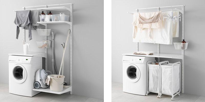 Soluciones para un cuarto de plancha de Ikea