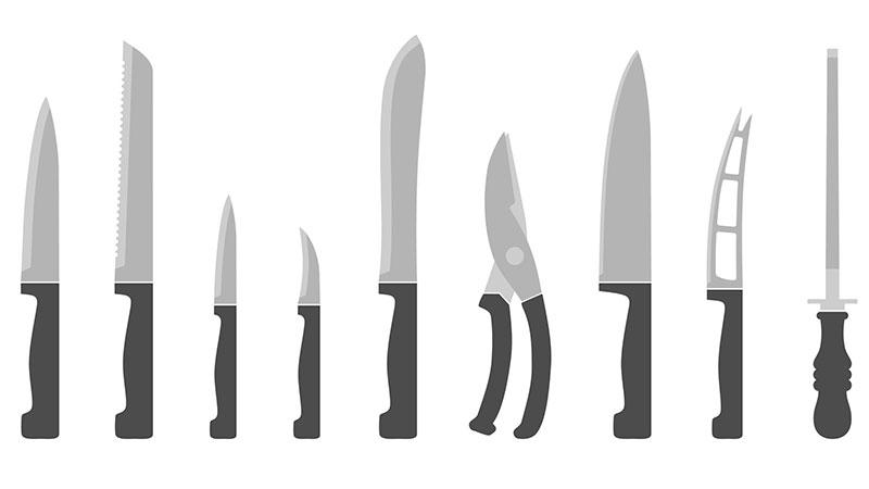 ¿Para qué sirve cada cuchillo de cocina?