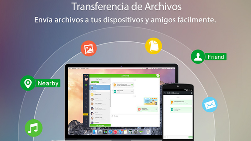 Aplicaciones pasar archivos de Android al PC sin cables