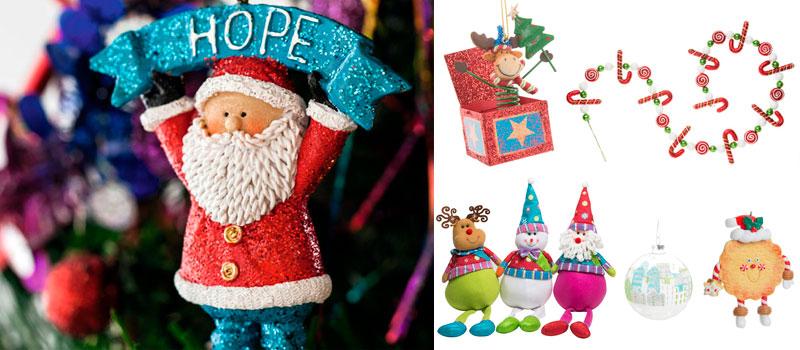 Decoración navideña estilo naif