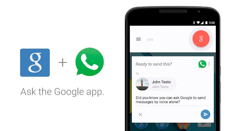 Cómo mandar mensajes de Whatsapp sin tener que escribirlos (Google Now)