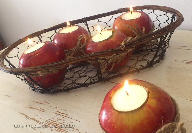 Candelabros de manzana