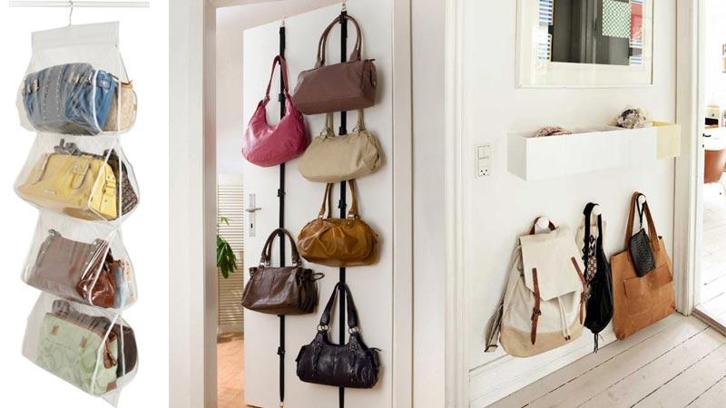 Ideas para almacenar los bolsos en casa