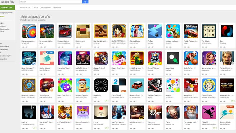 Los mejores juegos de 2015 para Android según Google