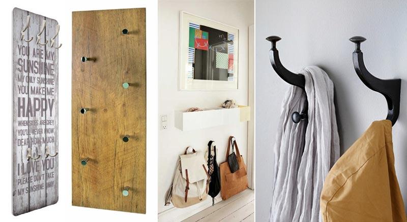 Ideas para almacenar los bolsos en casa flota - Perchero de pared original ...