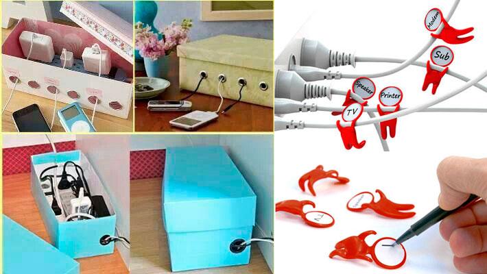 Soluciones originales para almacenar cables