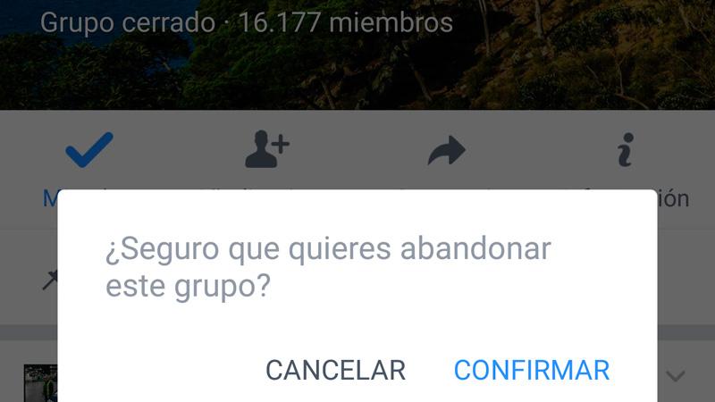 Cómo salir de un grupo de Facebook