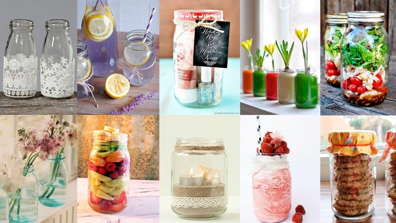 Ideas para reciclar tarros de cristal en casa