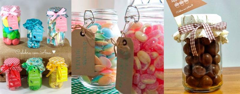 Tarros de cristal para dulces