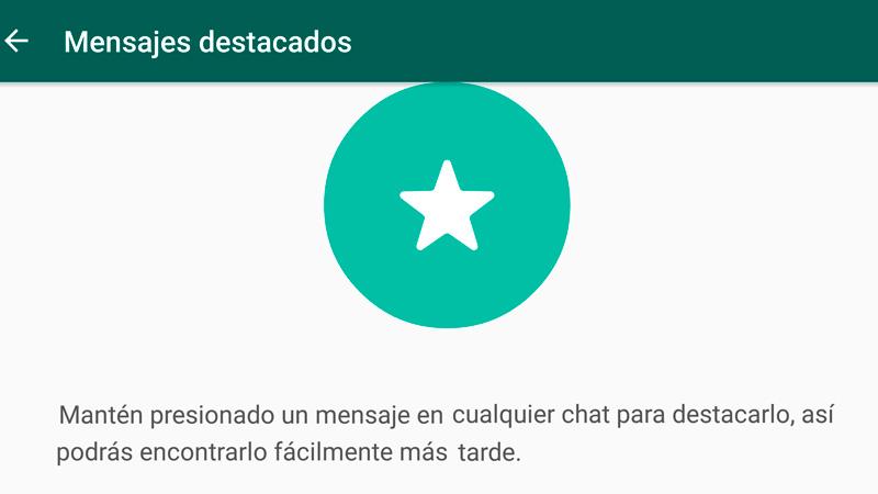 Cómo marcar mensajes de WhatsApp como favoritos