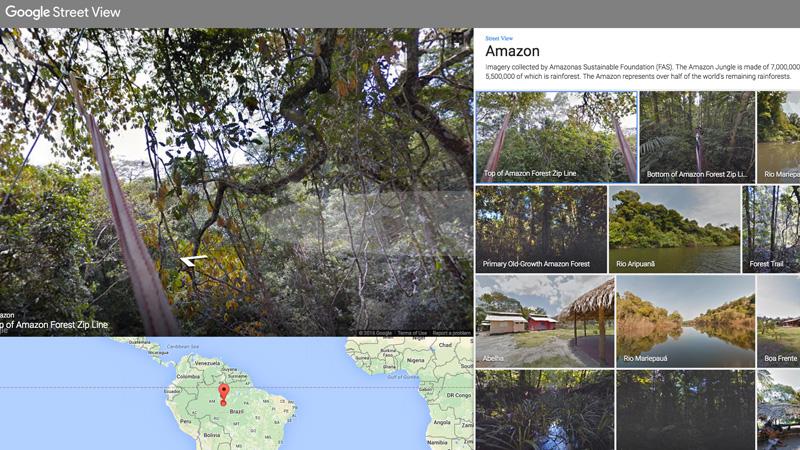 Nueve lugares dignos de visitar en Google Maps