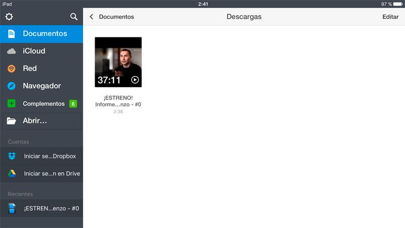 Cómo descargar vídeos en tu iPhone o iPad