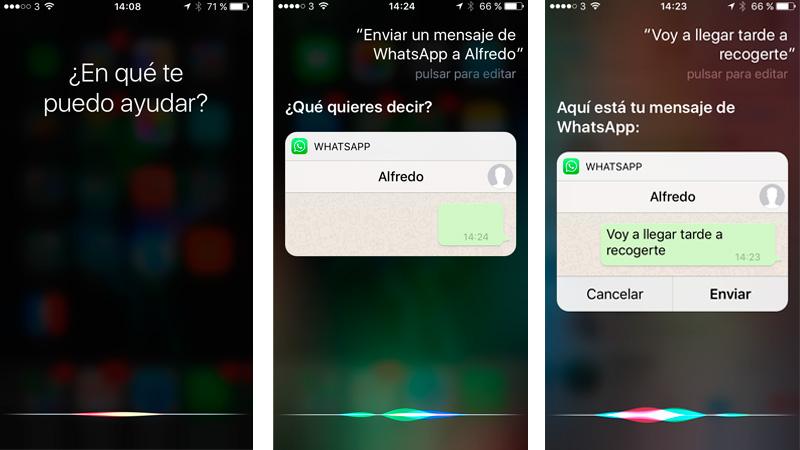 Cómo utilizar Siri para enviar mensajes de WhatsApp