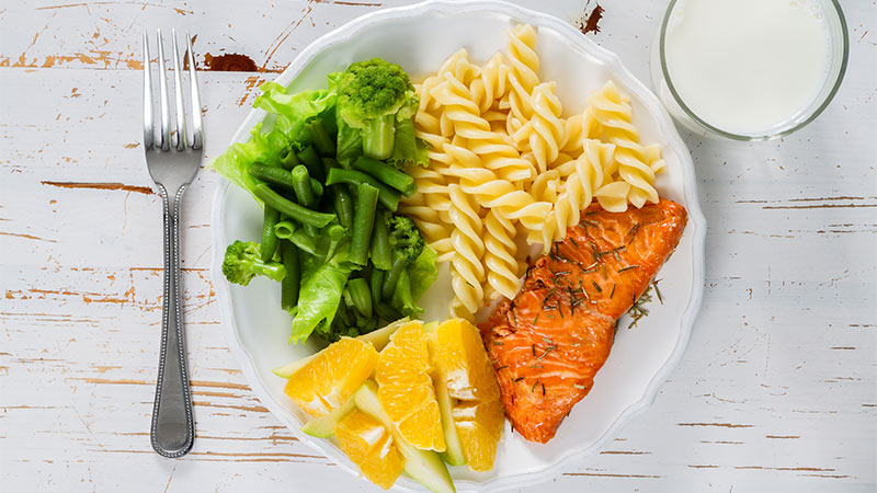 ¿Qué debe contener una comida equilibrada?