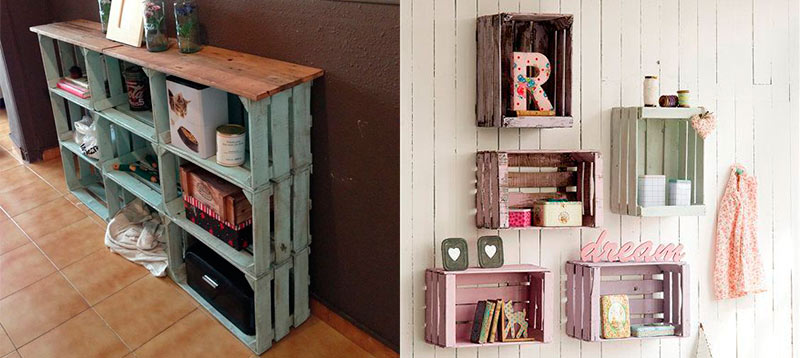 Decoración DIY con cajas de fruta