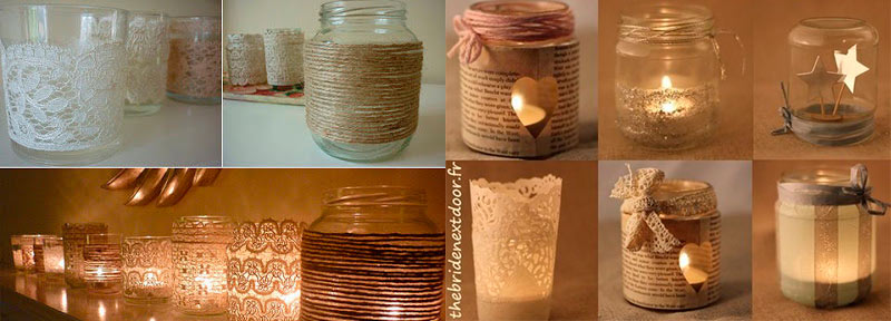 Decoracion DIY tarros de cristal