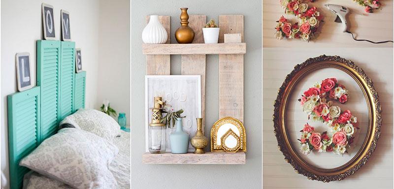 Ideas de decoración DIY con materiales reciclados