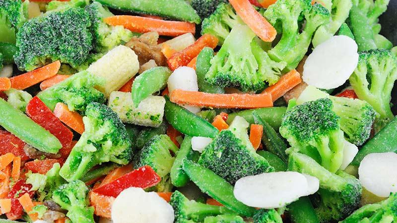 Las verduras congeladas: qué beneficios tienen