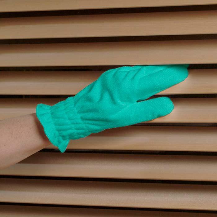guantes y persianas